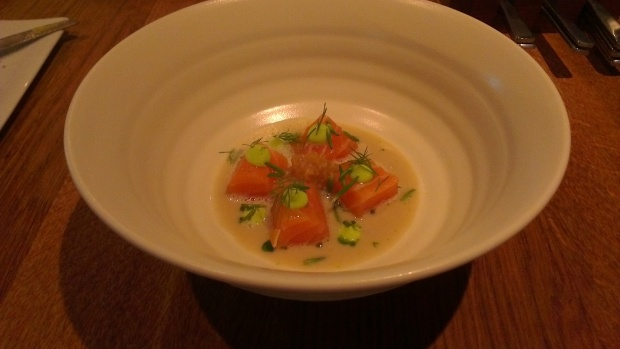 Loch Duart salmon with sea herbs