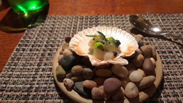 Scallop with sea herbs