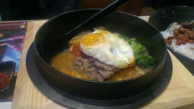 Kimchi tofu beef pot if you eat iin at Pan Asia BBQ