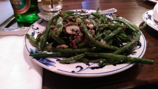 Green Beans with Chilli Oil