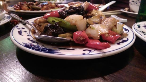 Sliced Pork with Chinese Mushrooms