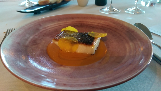 Bass with Porthilly Sauce - Nathan Outlaw