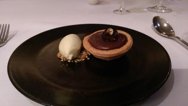 Chocolate, Cherry and Pistachio Tart