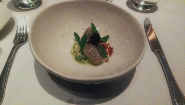 The Ledbury - London - Artichoke, Caviar & Soured Cream