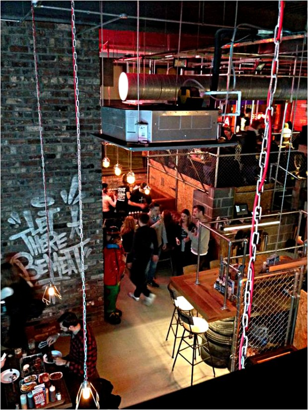 Red's Nottingham from the mezzanine