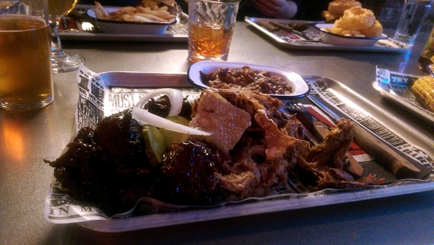 Burnt Ends, Pulled Pork and Beans - Red's True BBQ - Nottingham