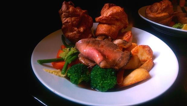 Beef Sunday Roast - The Roundhouse - Nottingham