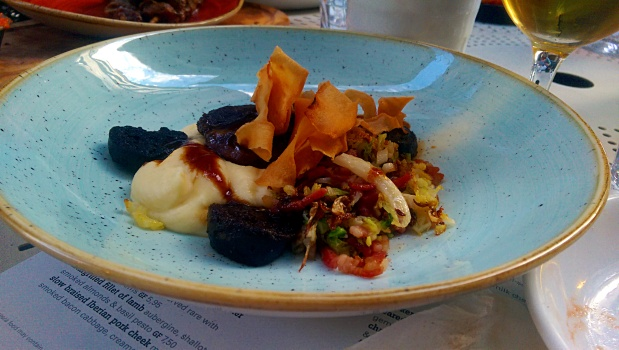Iberian Pork Cheek and Morcilla Sausage - Baresca - Nottingham