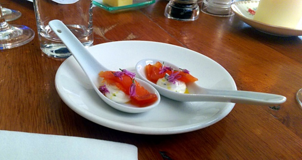 Salmon Canapé - The Clock House - Upton (Nottinghamshire)