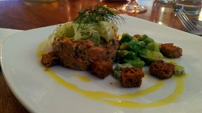 Crab with pickled fennel and avocado - The Clock House - Upton (Nottinghamshire)