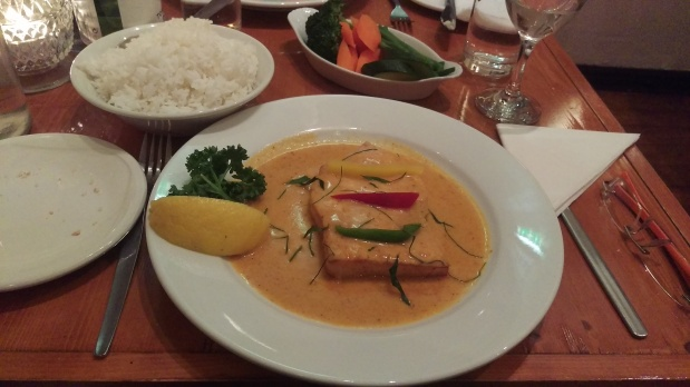 Hake in Thai Red Curry - The Lobster Pot - Nottingham