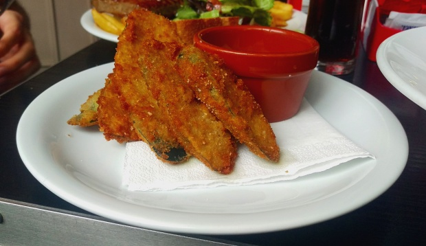 Courgette Fritters - Edin's - Nottingham