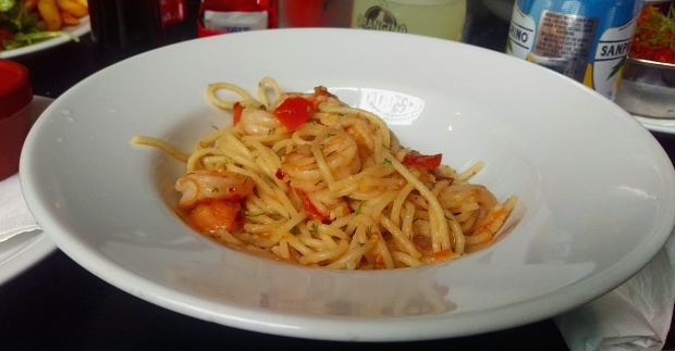 King Prawn and Chilli Pasta - Edin's - Nottingham