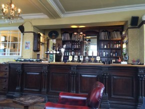 The bar at The Peacock (stolen from www.cannyfood.co.uk)