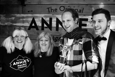 Annie, Lynnette from the Nottingham post, Andy the winning burger creator and our MC for the evening