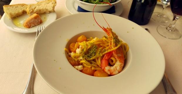 Prawn & Tomato Pasta - Osteria Dell'Antiquario - Rome
