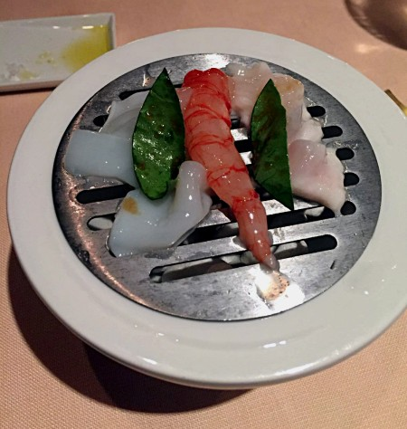 John Dory, Squid & Red Shrimp - La Pergola - Rome