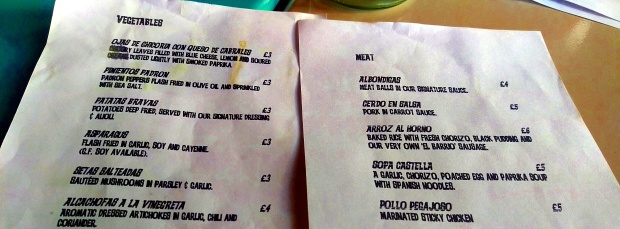The Menu - Barrio - Nottingham (Sherwood)