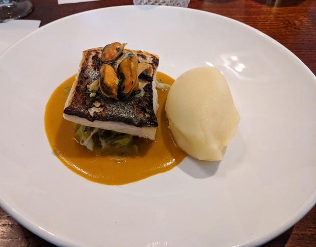 Hake with curry sauce - The Railway - Nottingham